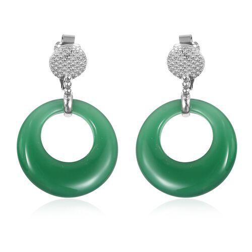 Verde Onyx Clip - On Earrings in Stainless Steel 40.000 Ct.