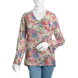 Red, Blue and Multi Colour Floral Printed Tunic (Size 70X50 Cm)