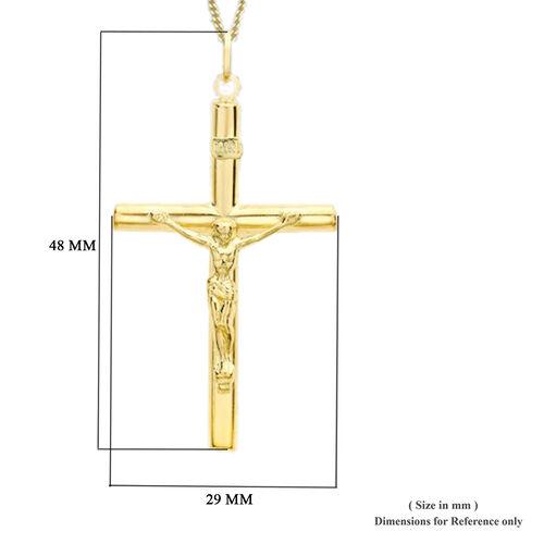 9K Yellow Gold Crucifix Pendant