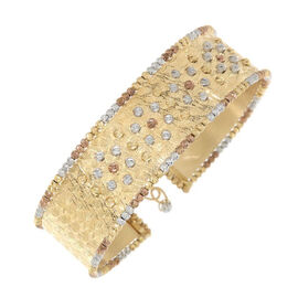 9K Yellow Gold Diamond Cut Bangle (Size 7 with 1.5 inch Extender), Gold wt 14.85 Gms