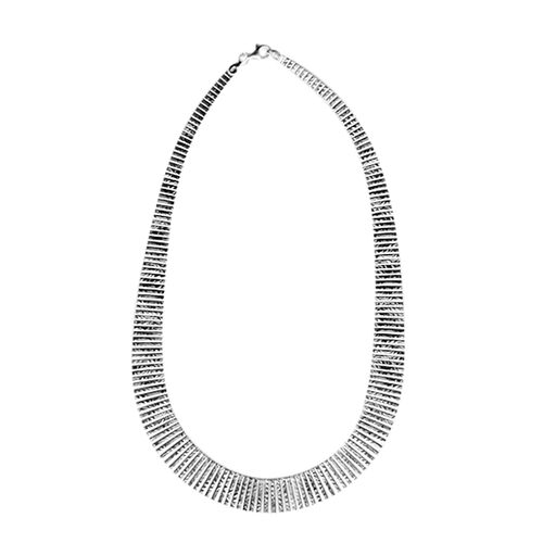 Vicenza Collection - Sterling Silver Cleopatra Necklace (Size 17), Silver wt 38.00 Gms.