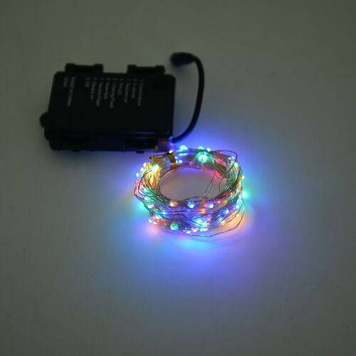 4 Changing Colour Light 10 Meter Long Micro LED String Light with Wireless Handlheld Remote Control