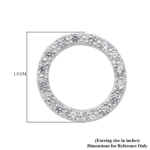 ELANZA Simulated Diamond Earrings (with Push Back) in Sterling Silver