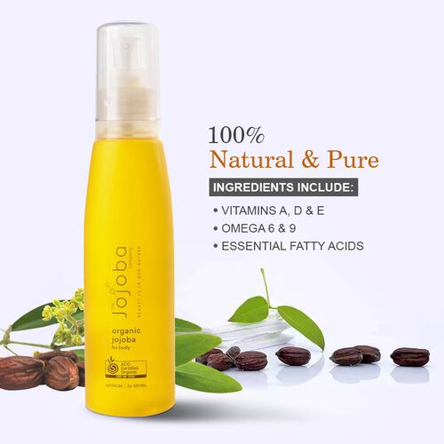 100% Natural & Organic Australian Jojoba - Golden Liquid - Wax Ester - 200ml