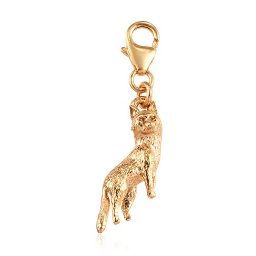 14K Gold Overlay Sterling Silver Fox Charm