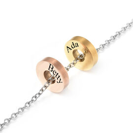 Personalised Engravable 2 Polo Charm Necklace with 20 Inch Chain In Stainless Steel