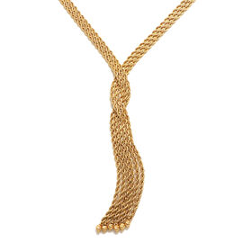 Italian Made 9K Yellow Gold Tassel Multi-Strand Rope Necklace (Size 18),  Gold Wt. 9.00 Gms