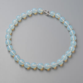 Opalite Beads Necklace (Size 20) with T-Bar 524.00 Ct.