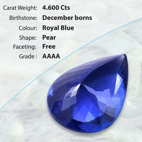 Tanzanite Pear Free Faceted 4A 4.600 Cts