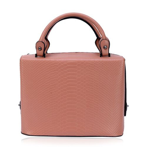 Rosaria Croc Embossed Top Handle Bag (Size 29.5x21x15.5 Cm)