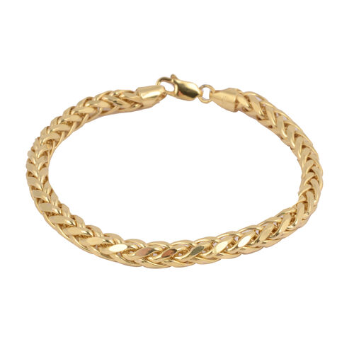 JCK Vegas Collection- 9K Yellow Gold Spiga Bracelet (Size 8), Gold wt 8.14 Gms