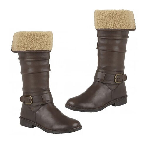 Lotus Brown Leather Dandy Knee High Boots (Size 4)