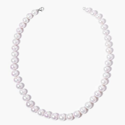 Collectors Edition ILIANA 18K White Gold AAAA Fresh Water Pearl Necklace (Size 18)