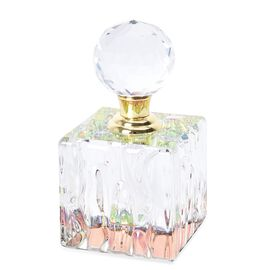 Carved Crystal Refillable Perfume Bottle with Colourful Base(Size 11x5.8 mm)