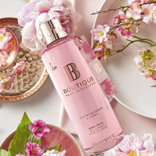 Boutique: Cherry Blossom & Peony Body Wash - 500ml