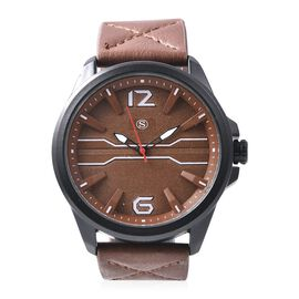 STRADA Japanese Movement Water Resistance Watch - Brown