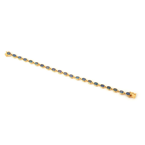 Boulder Opal Bracelet (Size 8) in Yellow Gold Overlay Sterling Silver, Silver wt. 8.90 Gms