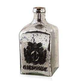 Home Decor - Black Colour Square Shaped Antique Style Wine Bottle