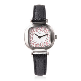 RACHEL GALLEY Lattice Collection Swiss Movement Watch with Black Genuine Leather Strap- Pink