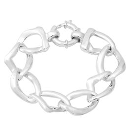 Link Bracelet with Senorita Clasp in Thai Sterling Silver 24.07 Grams 7.5 Inch