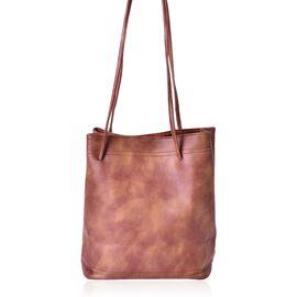 Designer Inspired Estella Chocolate Colour Large Size Tote Bag (Size 30x28x15 Cm)