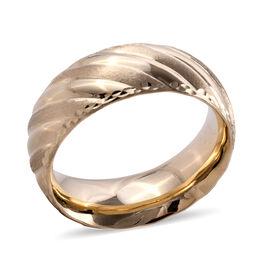 Premium Collection- Royal Bali Collection Handmade 9K Yellow Gold Textured & High Polish Band Ring.G