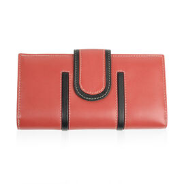 Close Out Deal - 100% Genuine Leather Wallet with Multi Compartments - Red