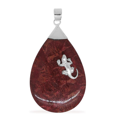 Royal Bali Collection Coral Pendant in Sterling Silver