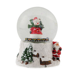Wind up Musical Snowman Snowglobe (Size: 11.2x10.5x15cm)