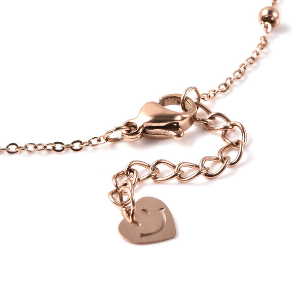 Personalise Engravable Initial Heart Beat Steel Bracelet Size, 7+1 Inch, Stainless Steel