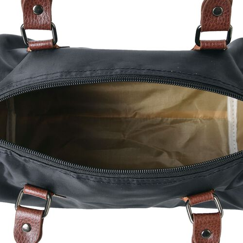 Classic Black Light Weight Water Resistant Bag with Adjustable Shoulder Strap (Size 28X21X18 Cm)
