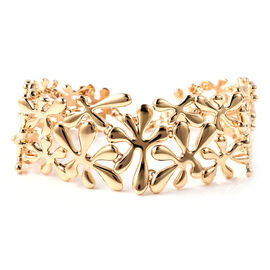 LucyQ Splash Bracelet (Size 7.5) in Yellow Gold Overlay Sterling Silver, Silver wt 42.50 Gms