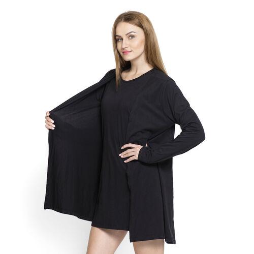 Set of 2 - 100% Viscose Black Colour Long Sleeve Tank Top (Size Small / Medium)