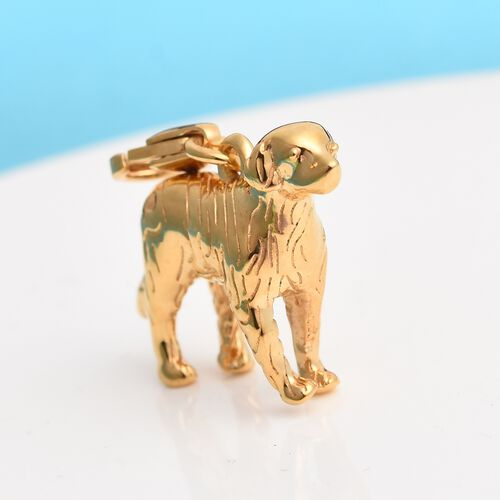 Charms De Memoire - 14K Gold Overlay Sterling Silver Dog Charm