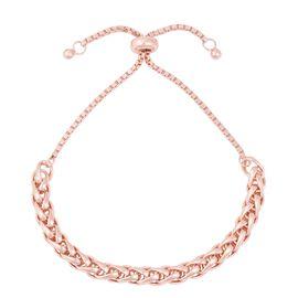 Spiga Adjustable Bracelet in Rose Gold Plated Sterling Silver 10.22 Grams