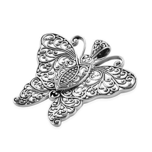 Bali Legacy Collection Sterling Silver Filigree Butterfly Pendant, Silver wt 11.68 Gms.