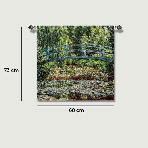 Signare Tapestry - Japanese Bridge by Monet Wall Hanging   (68cm x 73cm)
