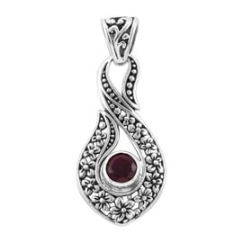 Royal Bali Collection African Ruby (Rnd) Infinity Pendant in Sterling Silver 2.040 Ct.