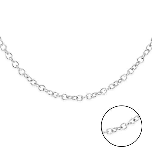 Close Out Deal RHAPSODY 950 Platinum Trace Necklace (Size 18) with Spring Ring Clasp