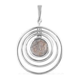 Meteorite Pendant in Platinum Overlay Sterling Silver 5.50 Ct.