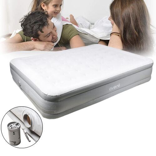 High Raised Airbed Mattress with Built-in Electric Pump (Size 203x157x47 Cm)