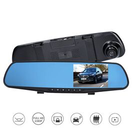 Rear View Mirror with Dash Cam  with G-Sensor, Motion Detection and Cyclic Recording INCLUDING 8GB M