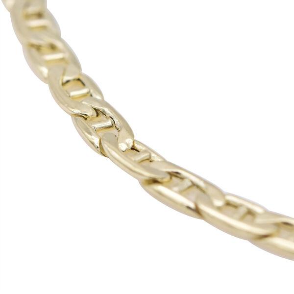 Personalised 9CT Gold Flat Rambo Adjustable Bar Bracelet, Size 6-7 Inch