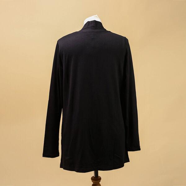 TAMSY Womens Jersey Cardigan (Size:14) - Black