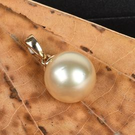 9K Yellow Gold Golden South Sea Pearl Pendant