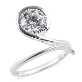 J Francis - Sterling Silver (Rnd) Ring Made with SWAROVSKI ZIRCONIA 3.37 Ct.