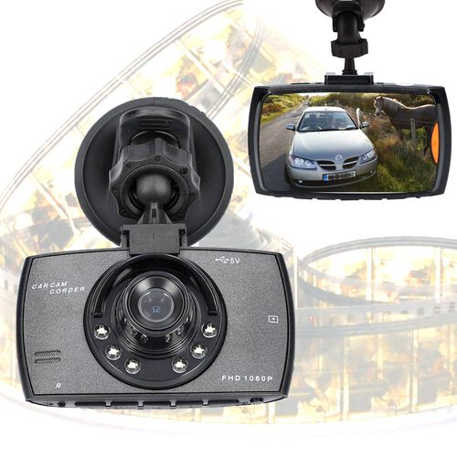 Dash Cam with G-Sensor, Motion Detection and Cyclic Recording INCLUDING 8GB MICRO SD CARD
