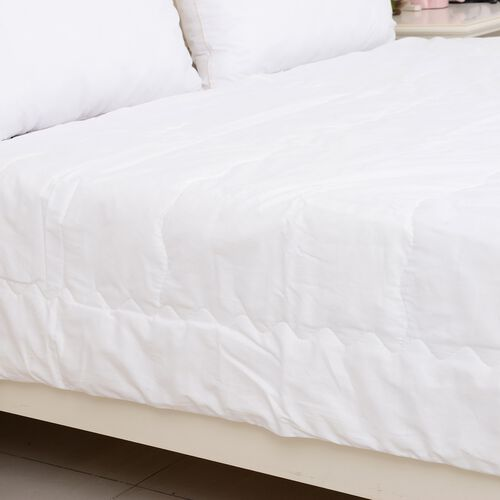 Premium Quality 100% Mulberry Silk Filled Duvet in Double Size (200x200 cm) - White