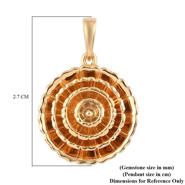 14K Gold Overlay Sterling Silver Pendant