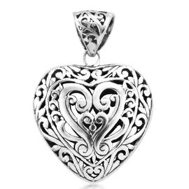 Royal Bali Collection Filigree Heart Pendant in Sterling Silver 9.90 Grams